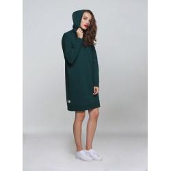 Mikinové šaty s kapucí ICON zelená